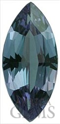 Beautiful Vibrant Bluish and Purplish Alexandrite Gemstone, Marquise Cut, 0.57 carats -- SOLD