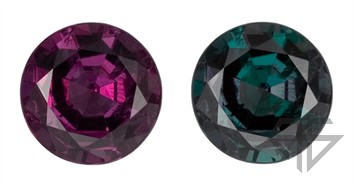 Super GEM Alexandrite Matched Pair, Round Shape, Large Sized Perfect Pair, Clean - Well Cut Gems, 1.41 carats total