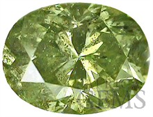 Fancy Yellow Green Natural Diamond, Oval Cut, I2, 1.26 carats, With GIA Certificate - SOLD