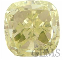 Fancy Light Green Yellow Natural Diamond, Cushion Cut, VVS2, 1.03 carats, With GIA Certificate - SOLD