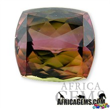 Parti Colored Tourmaline Gemstone 5.13 carats -- SOLD