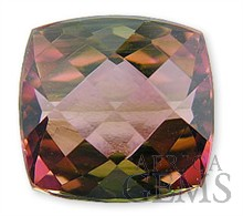 Parti Colored Tourmaline Gemstone 6.04 carats -- SOLD