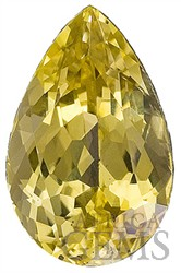 Lively, AGL Certified, Unheated Cheerful Yellow Sapphire Genuine Gem fro SALE, Pear Cut, 2.1 carats