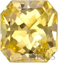 AGL Certified, remarkably Pretty Light Pure Yellow Unheated Sapphire Gemstone from Ceylon, Radiant Cut, 1.14 carats -- SOLD