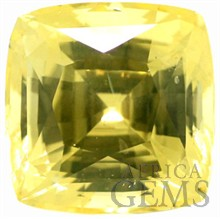 Unheated! Striking, Faceted Yellow Sapphire Loose Gemstone - Exceptional Quality, Cushion Cut, 7.4 carats with GIA Certificate -- SOLD